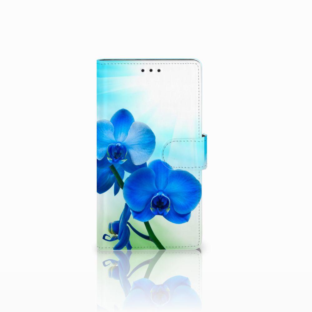 Sony Xperia L1 Boekhoesje Design Orchidee Blauw
