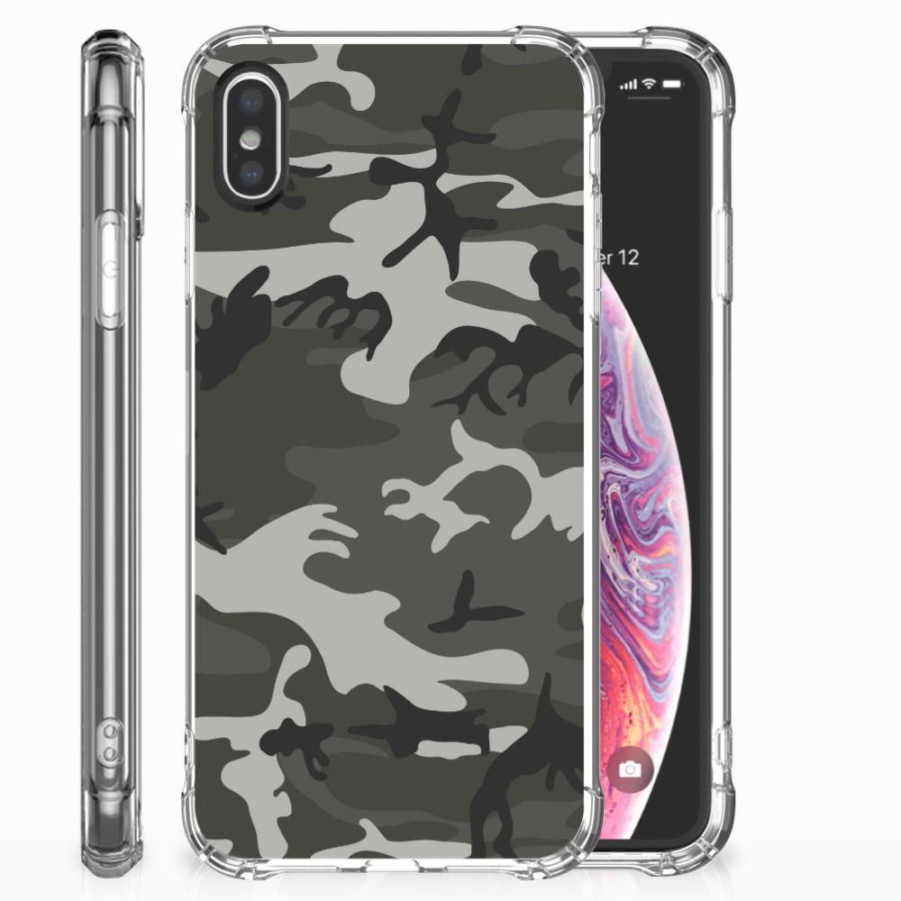 Apple iPhone X | Xs Doorzichtige Silicone Hoesje Army Light