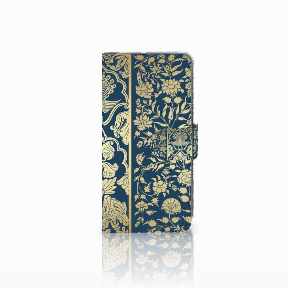 HTC U11 Life Uniek Boekhoesje Golden Flowers