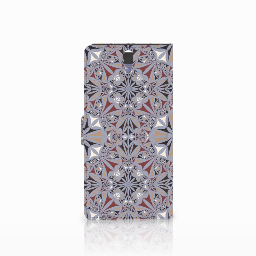 Sony Xperia C5 Ultra Bookcase Flower Tiles