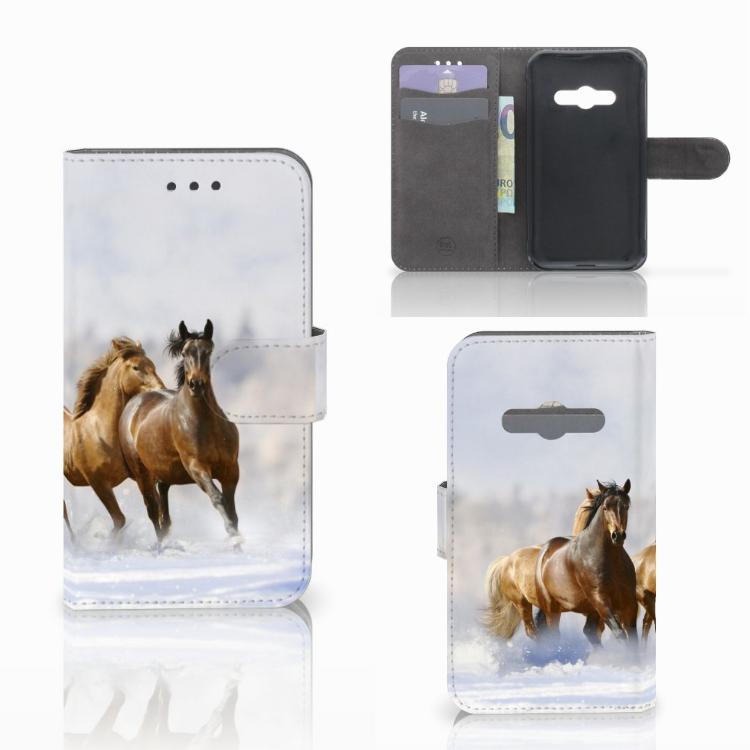 Samsung Galaxy Xcover 3 | Xcover 3 VE Telefoonhoesje met Pasjes Paarden