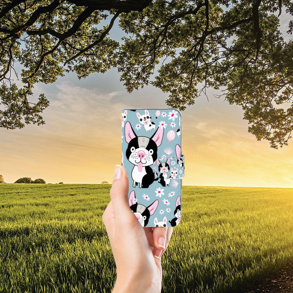 Samsung Galaxy J3 2016 Telefoonhoesje met Pasjes Hondjes