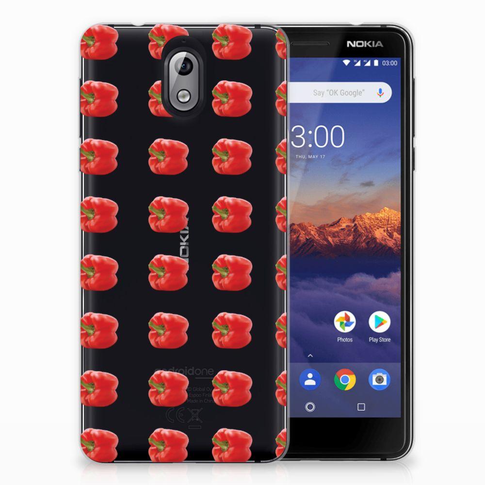 Nokia 3.1 (2018) Siliconen Case Paprika Red