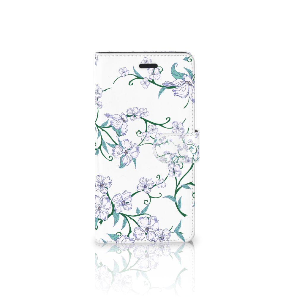 Samsung Galaxy A7 2017 Uniek Boekhoesje Blossom White