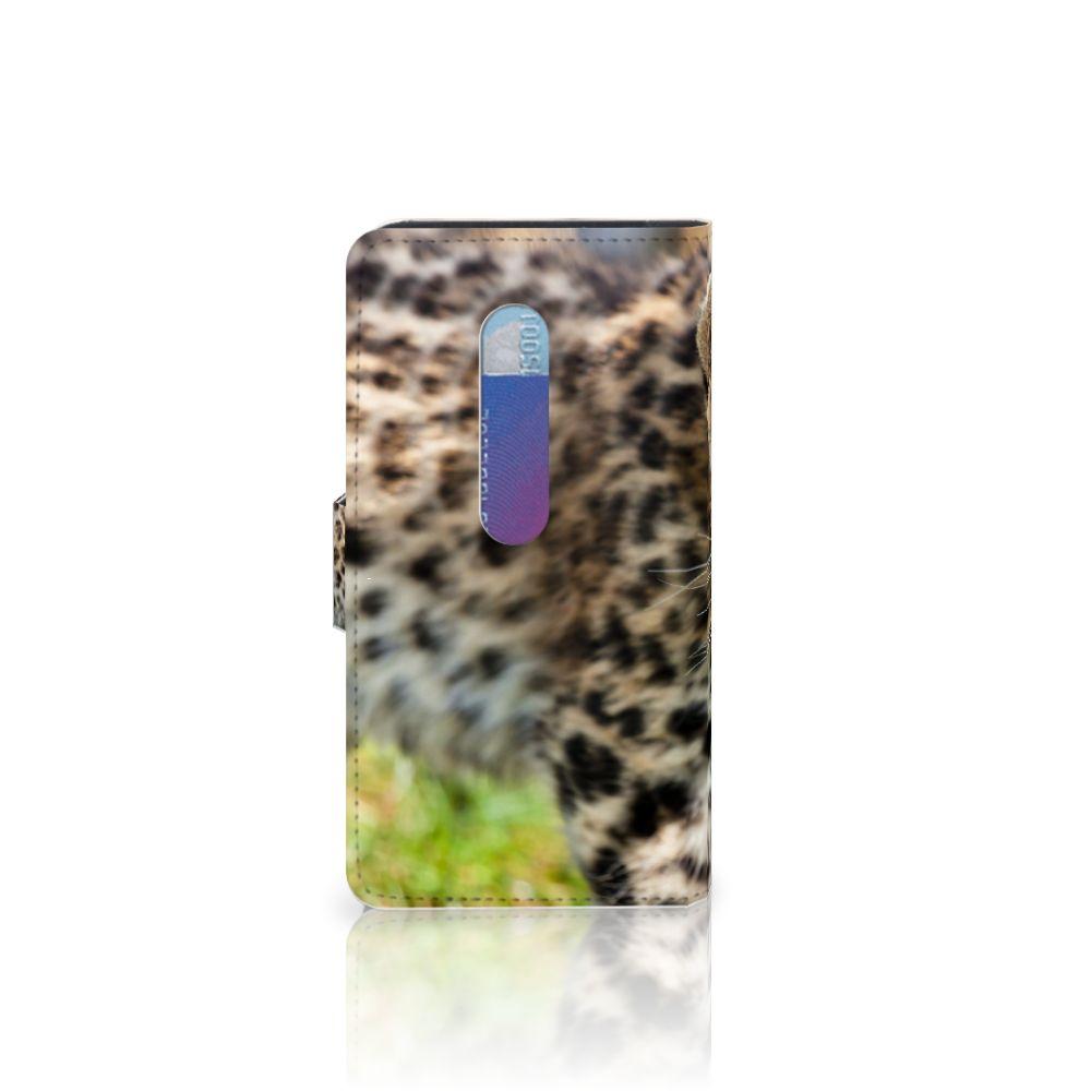 Motorola Moto G 3e Generatie Telefoonhoesje met Pasjes Baby Luipaard