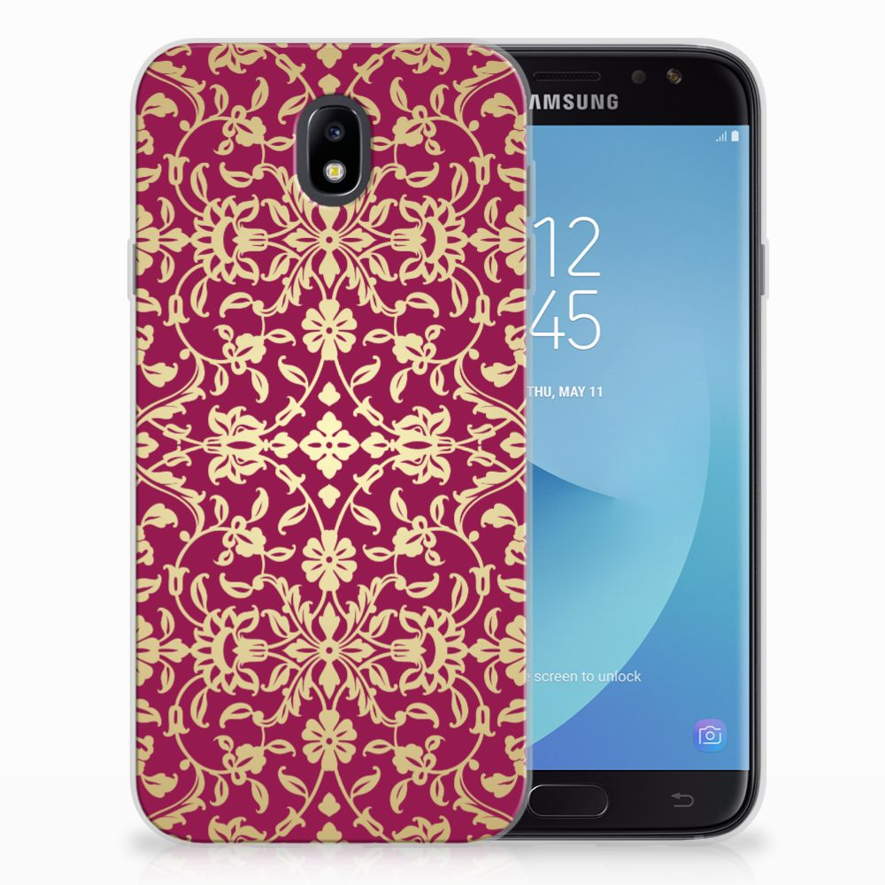Samsung Galaxy J7 2017 | J7 Pro TPU Hoesje Design Barok Pink