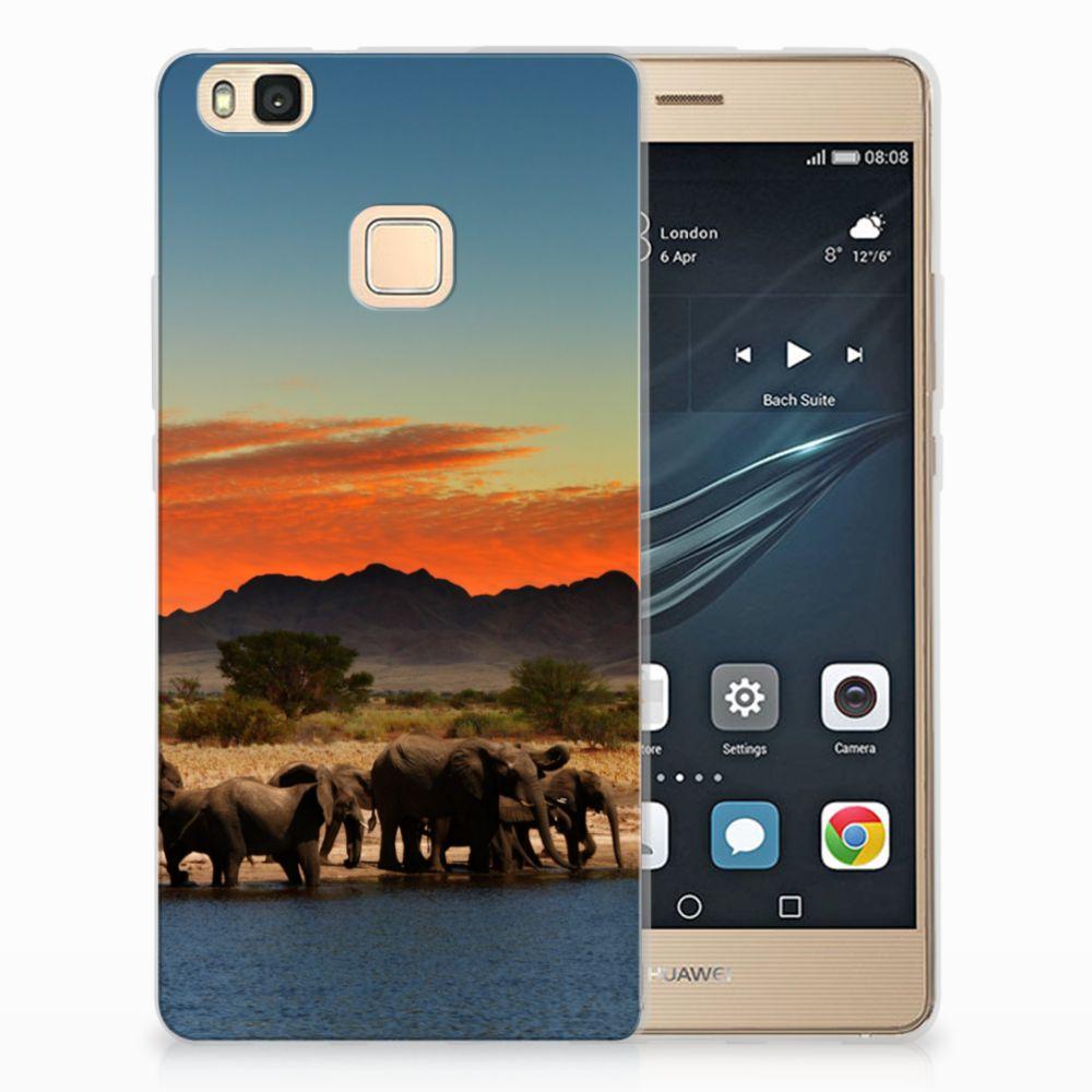 Huawei P9 Lite TPU Hoesje Design Olifanten