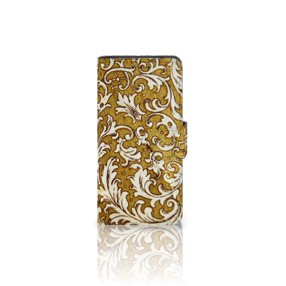 Wallet Case Samsung Galaxy S5 Mini Barok Goud