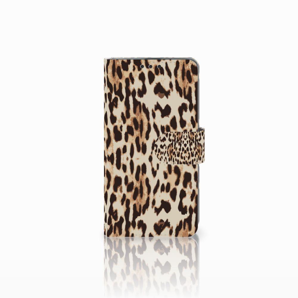 Microsoft Lumia 535 Uniek Boekhoesje Leopard