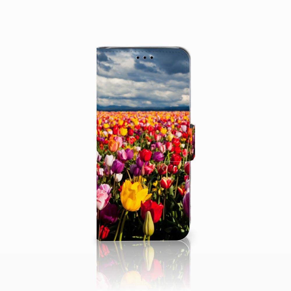 Samsung Galaxy A6 2018 Uniek Boekhoesje Tulpen