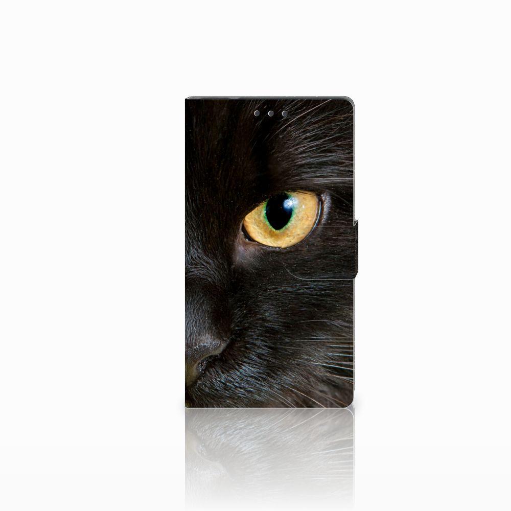 Samsung Galaxy Note 4 Uniek Boekhoesje Zwarte Kat