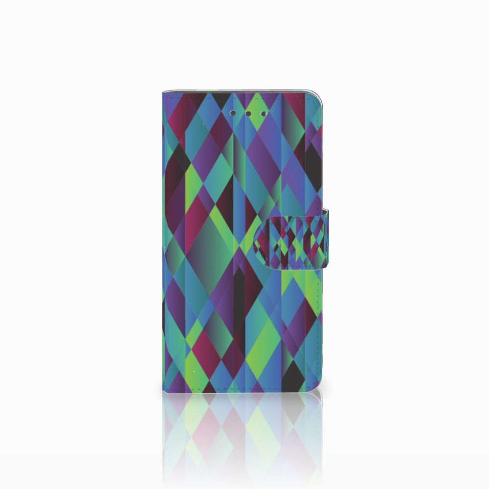 Wiko Fever (4G) Bookcase Abstract Green Blue