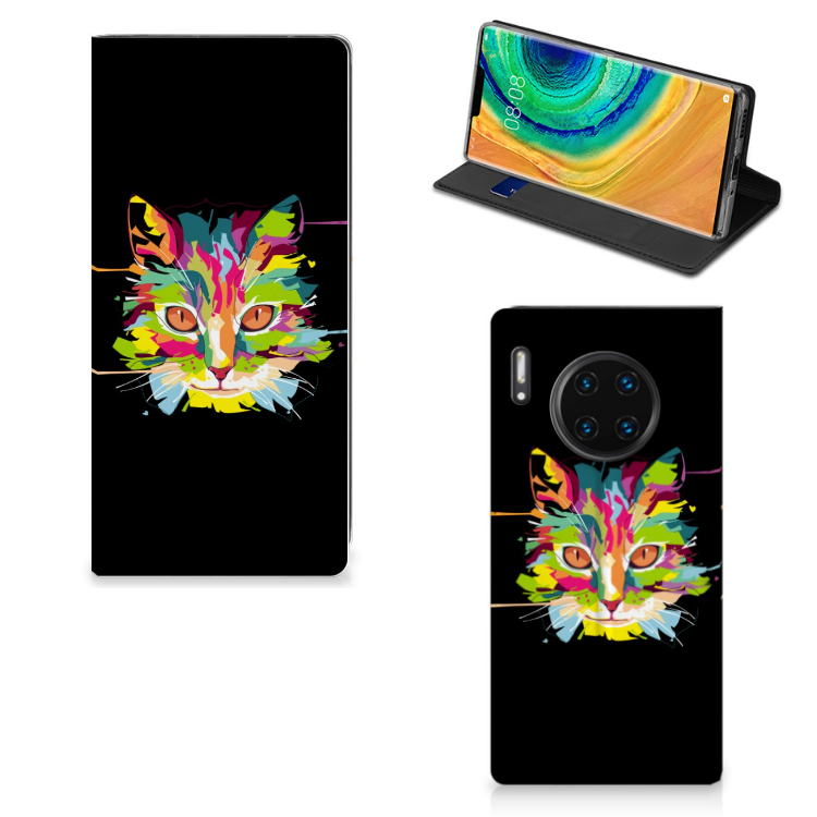Huawei Mate 30 Pro Magnet Case Cat Color