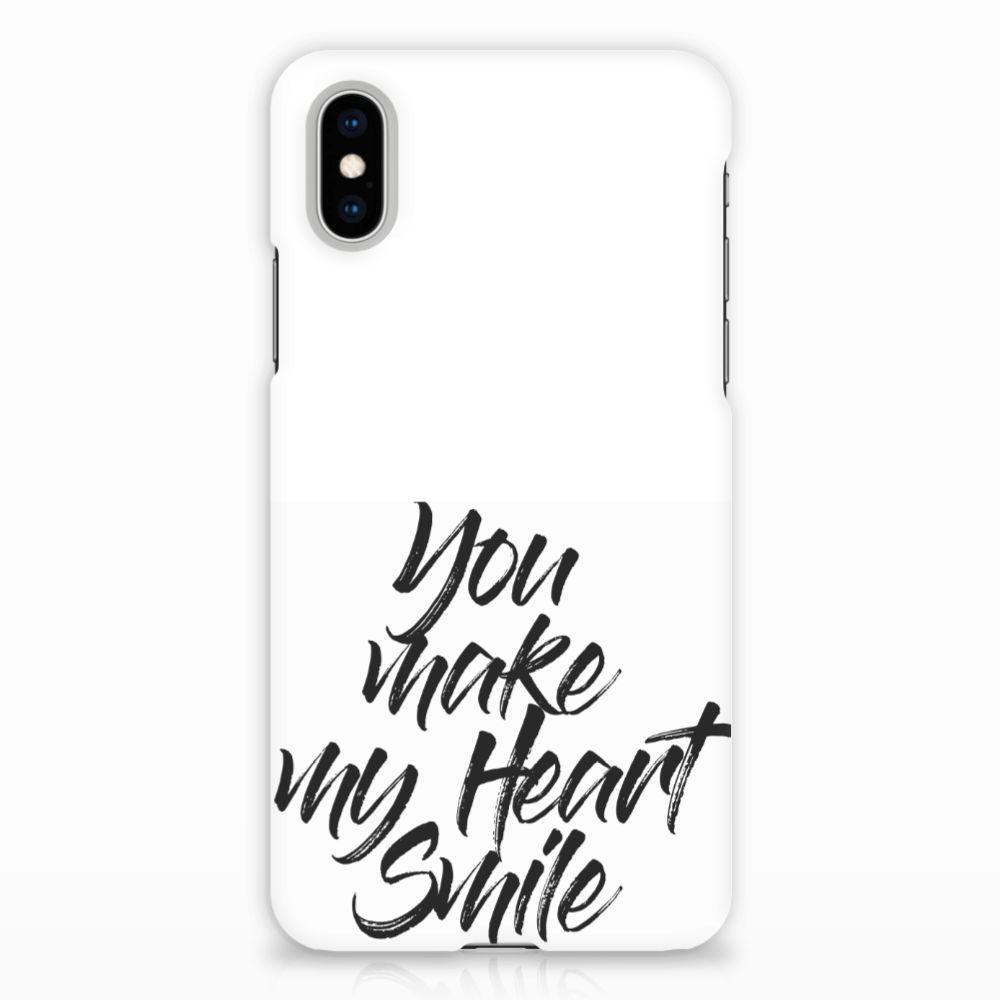 Apple iPhone X   Xs Hardcase Hoesje Design Heart Smile