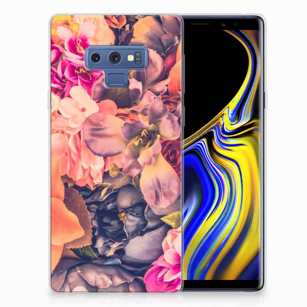 Samsung Galaxy Note 9 TPU Hoesje Design Bosje Bloemen