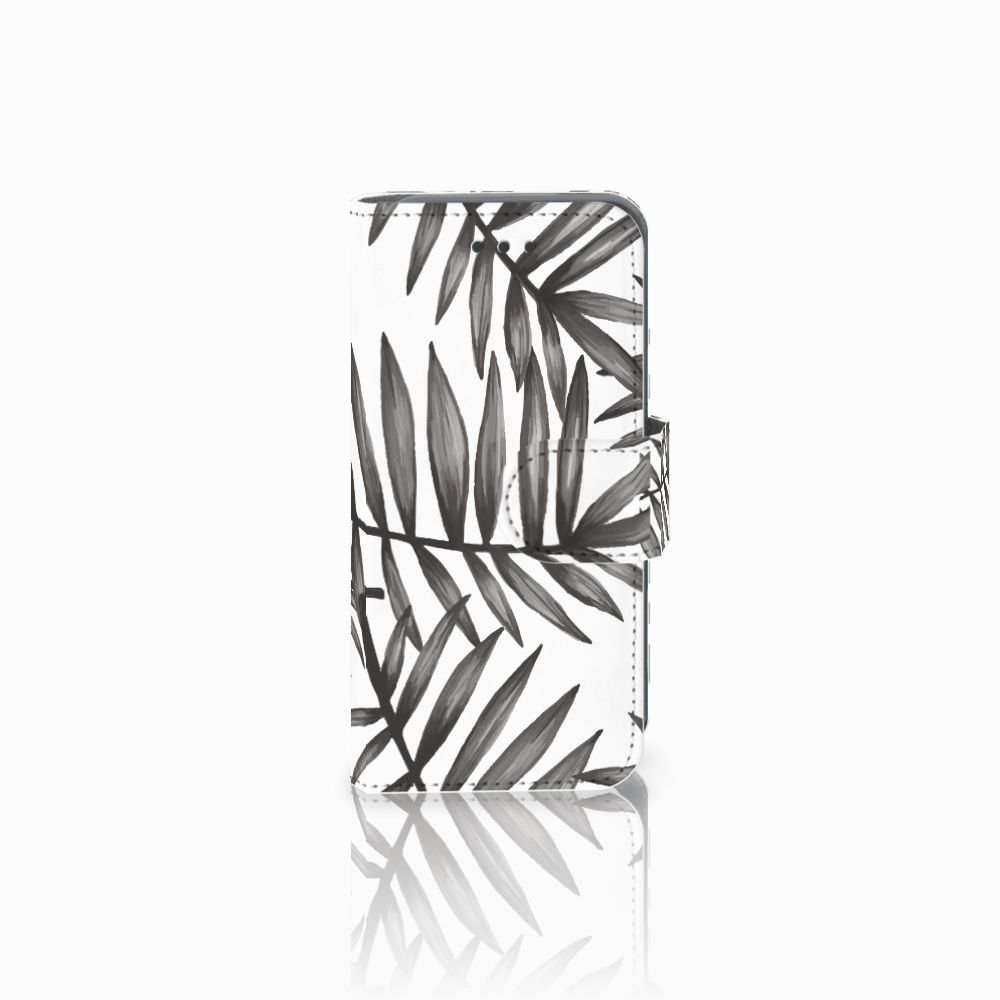 Apple iPod Touch 5 | 6 Uniek Boekhoesje Leaves Grey