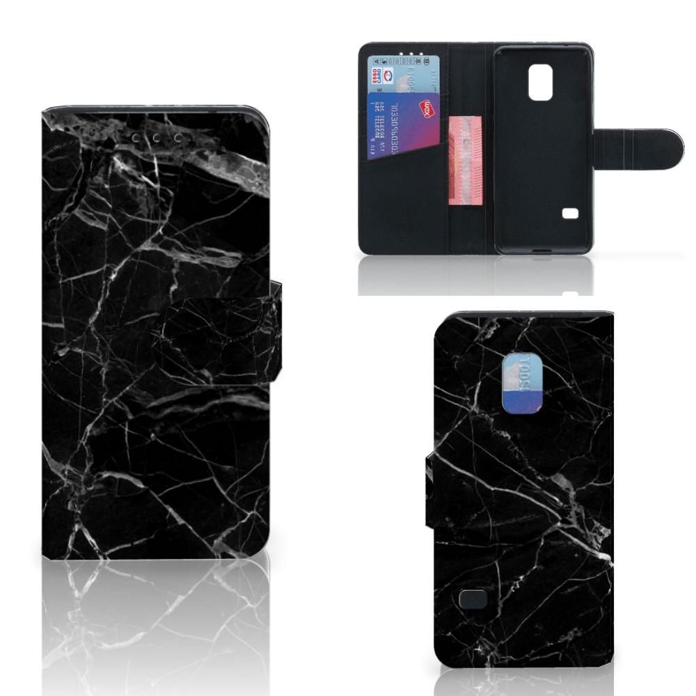 Samsung Galaxy S5 Mini Bookcase Marmer Zwart