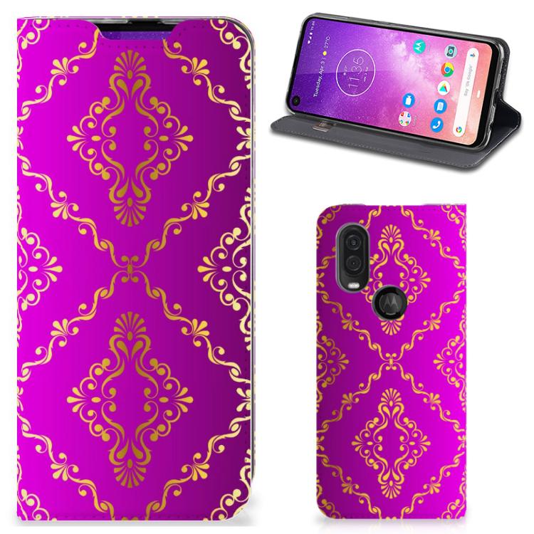 Telefoon Hoesje Motorola One Vision Barok Roze