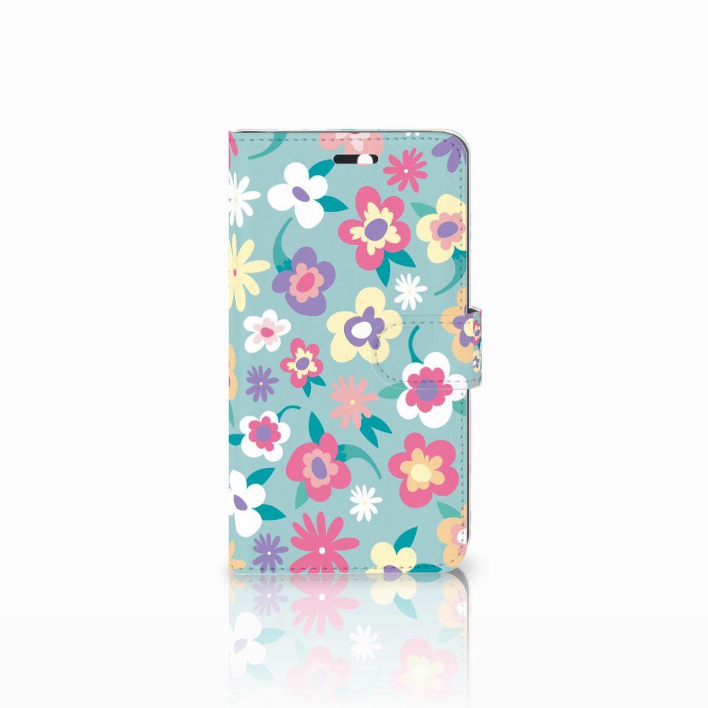 Huawei Y6 II   Honor 5A Boekhoesje Design Flower Power
