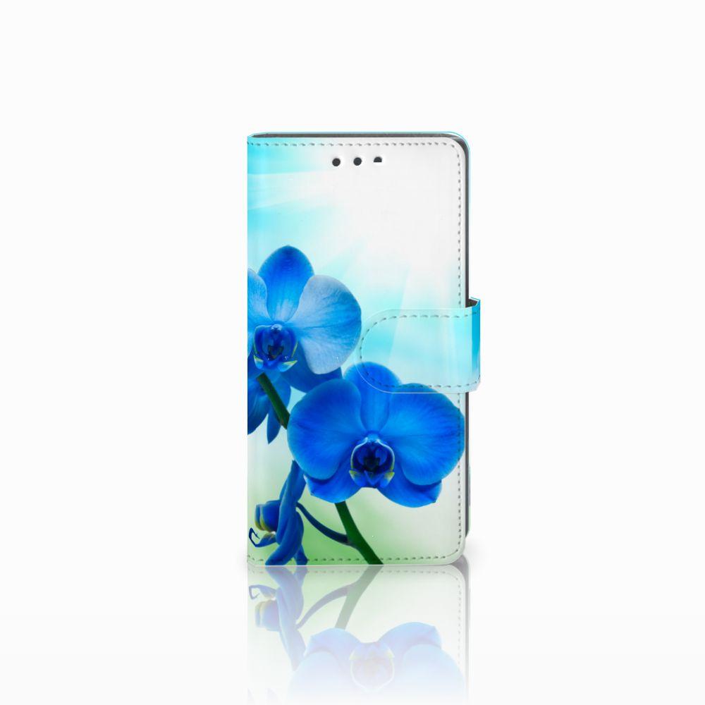 Sony Xperia X Compact Boekhoesje Design Orchidee Blauw