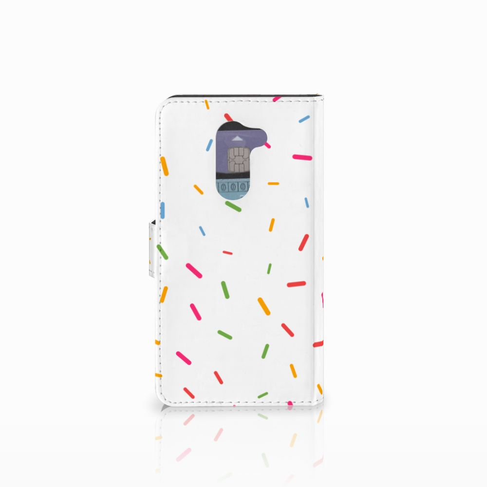 Huawei Honor 6X Book Cover Donut Roze