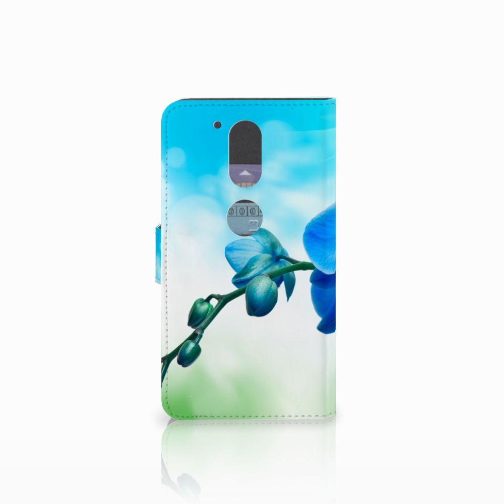 Motorola Moto G4   G4 Plus Hoesje Orchidee Blauw