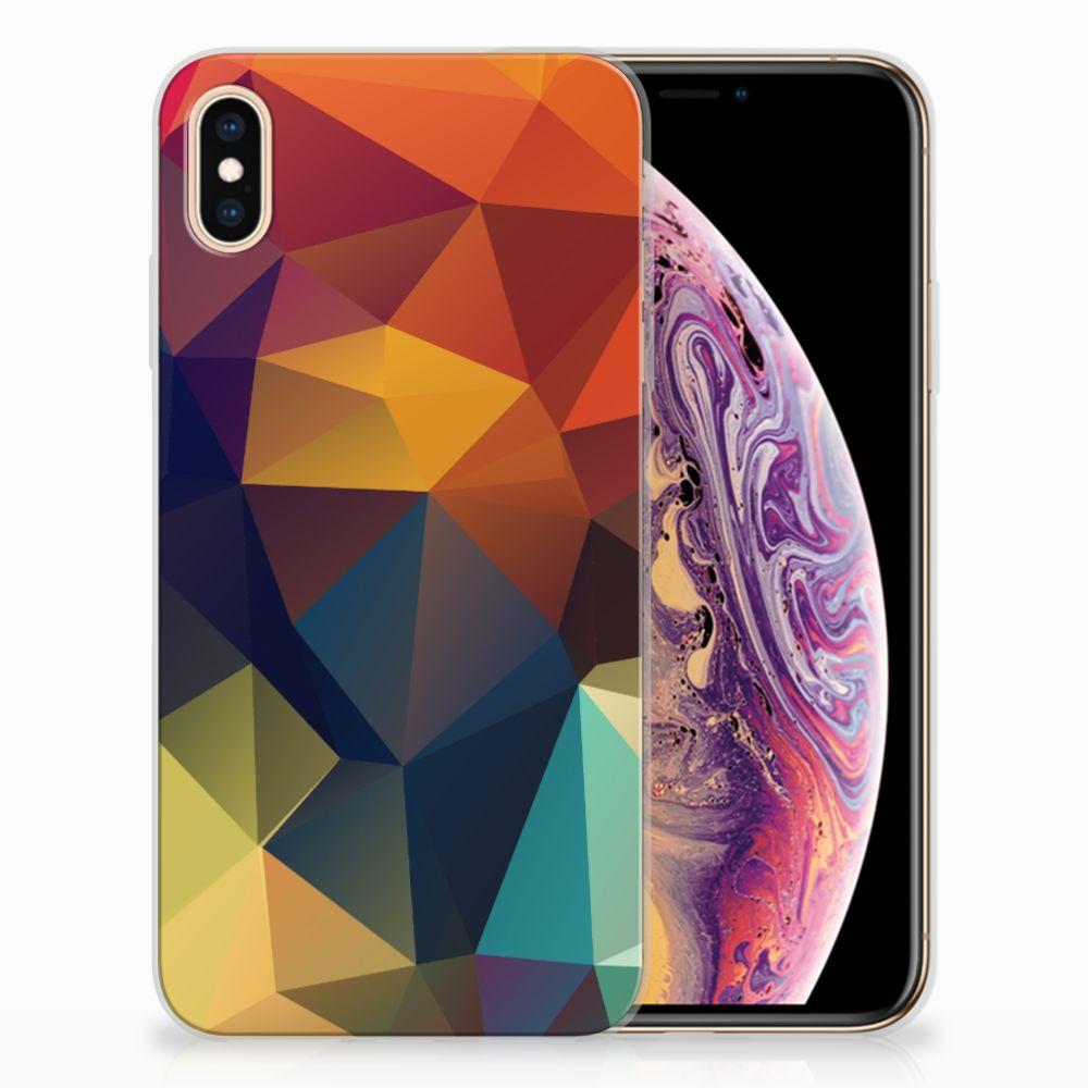 Apple iPhone Xs Max TPU Hoesje Design Polygon Color