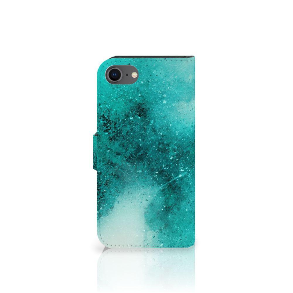 Hoesje iPhone 7   8   SE (2020) Painting Blue