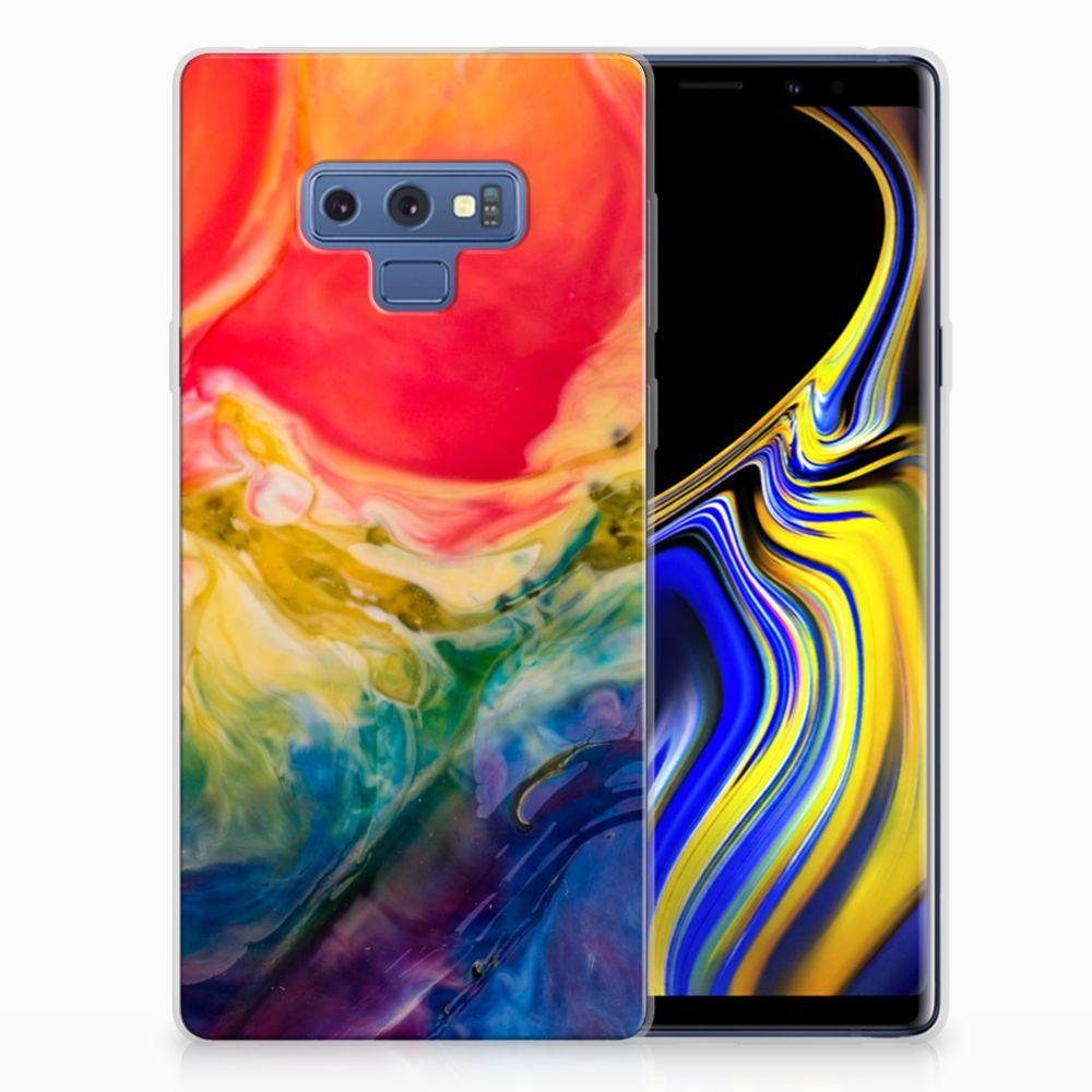 Hoesje maken Samsung Galaxy Note 9 Watercolor Dark