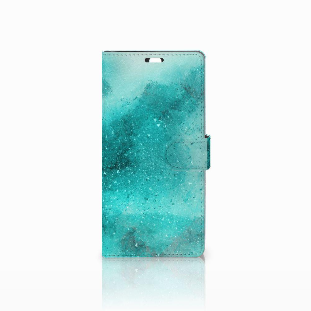 Sony Xperia C5 Ultra Uniek Boekhoesje Painting Blue