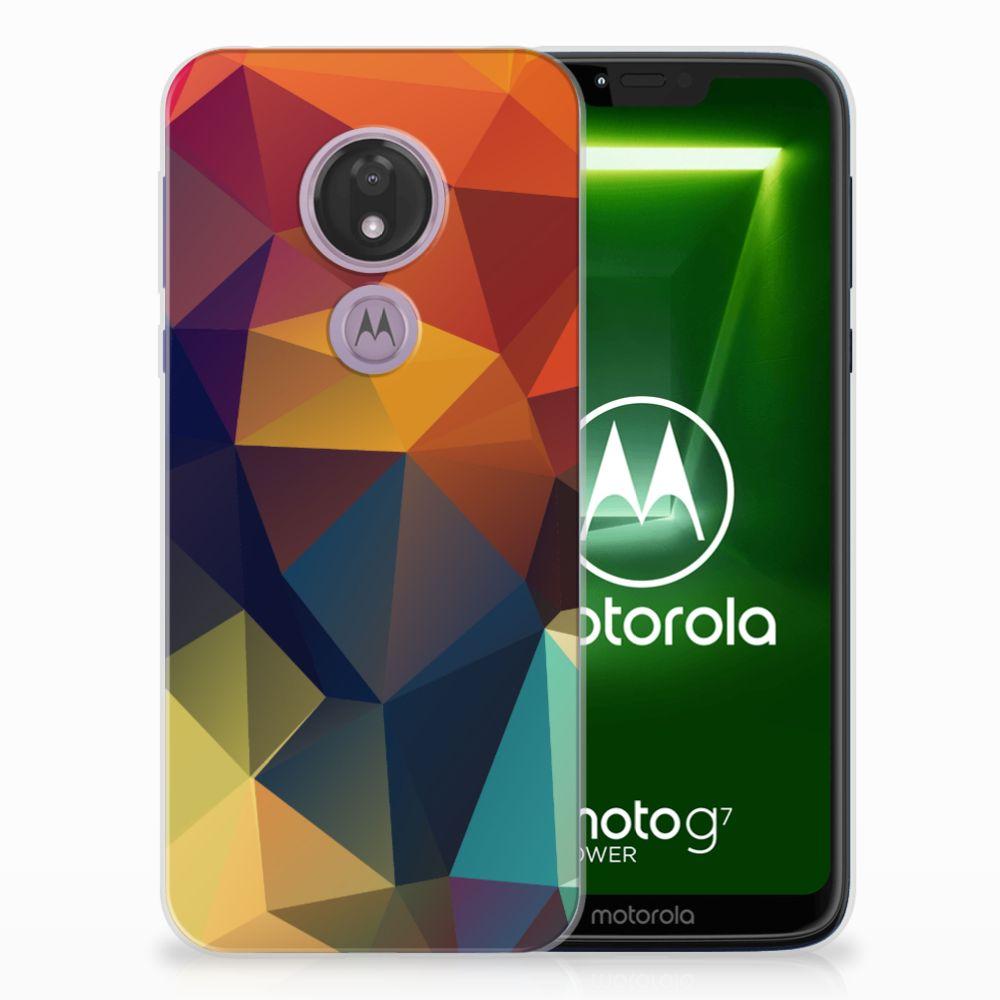 Motorola Moto G7 Power TPU Hoesje Polygon Color