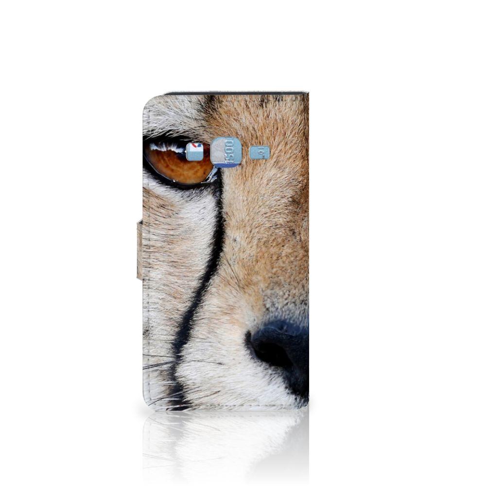 Samsung Galaxy J3 2016 Telefoonhoesje met Pasjes Cheetah