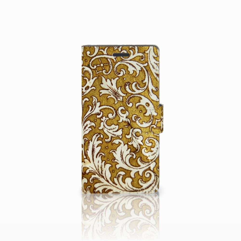 Wallet Case Nokia Lumia 830 Barok Goud