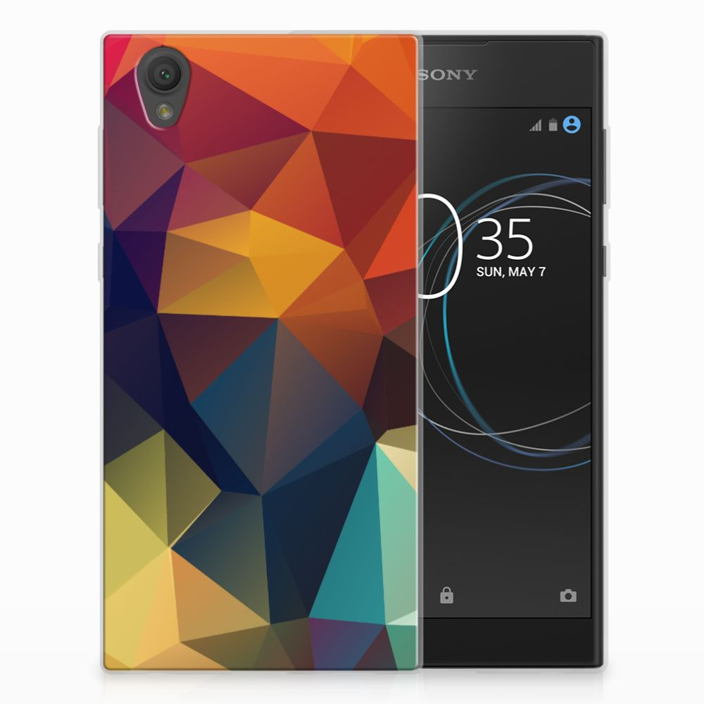 Sony Xperia L1 TPU Hoesje Polygon Color