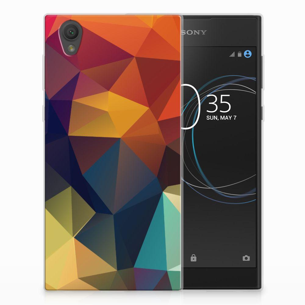Sony Xperia L1 TPU Hoesje Polygon Color