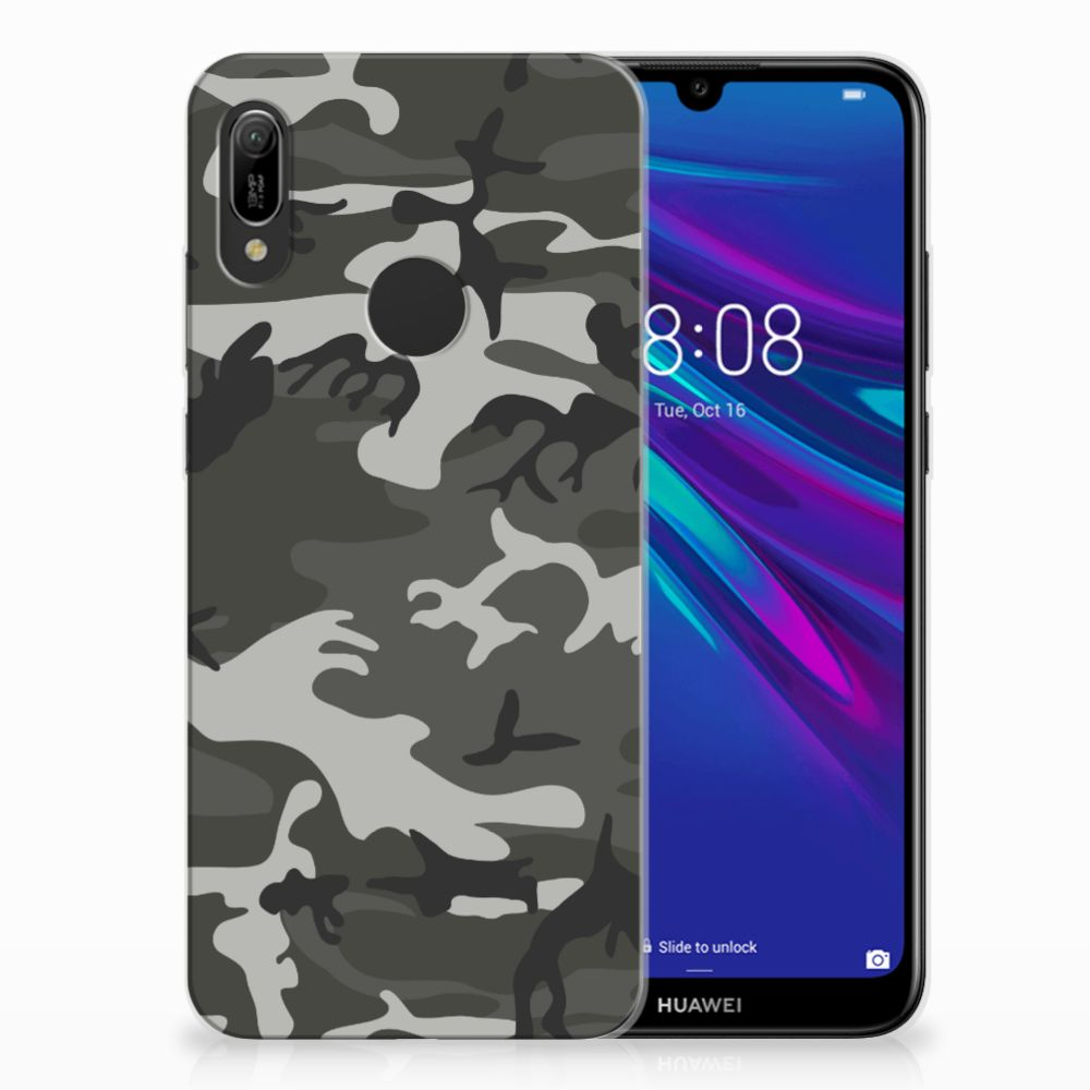 Huawei Y6 2019 | Y6 Pro 2019 Uniek TPU Hoesje Army Light