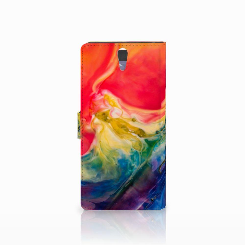 Hoesje Sony Xperia C5 Ultra Watercolor Dark