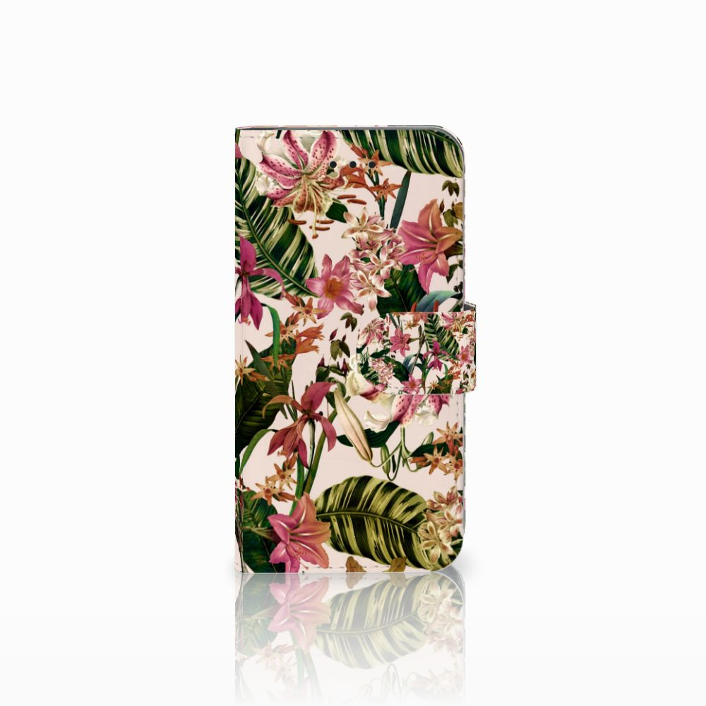 Apple iPhone X | Xs Uniek Boekhoesje Flowers