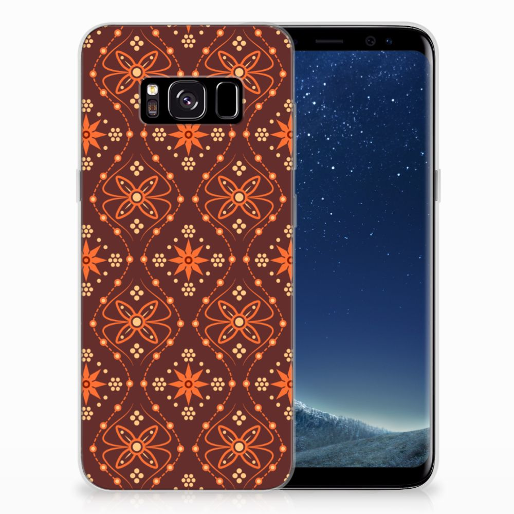 Samsung Galaxy S8 TPU bumper Batik Brown