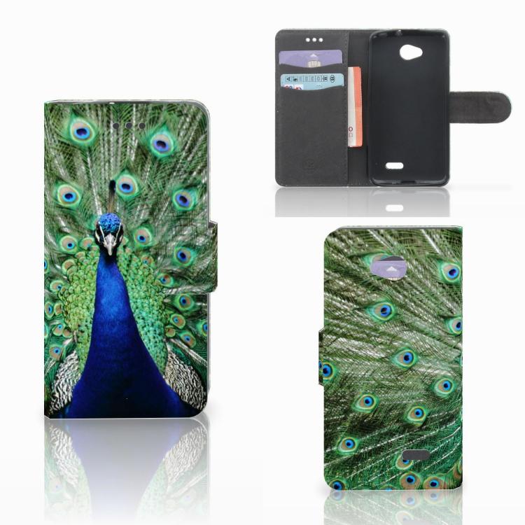 LG L70 Telefoonhoesje met Pasjes Pauw