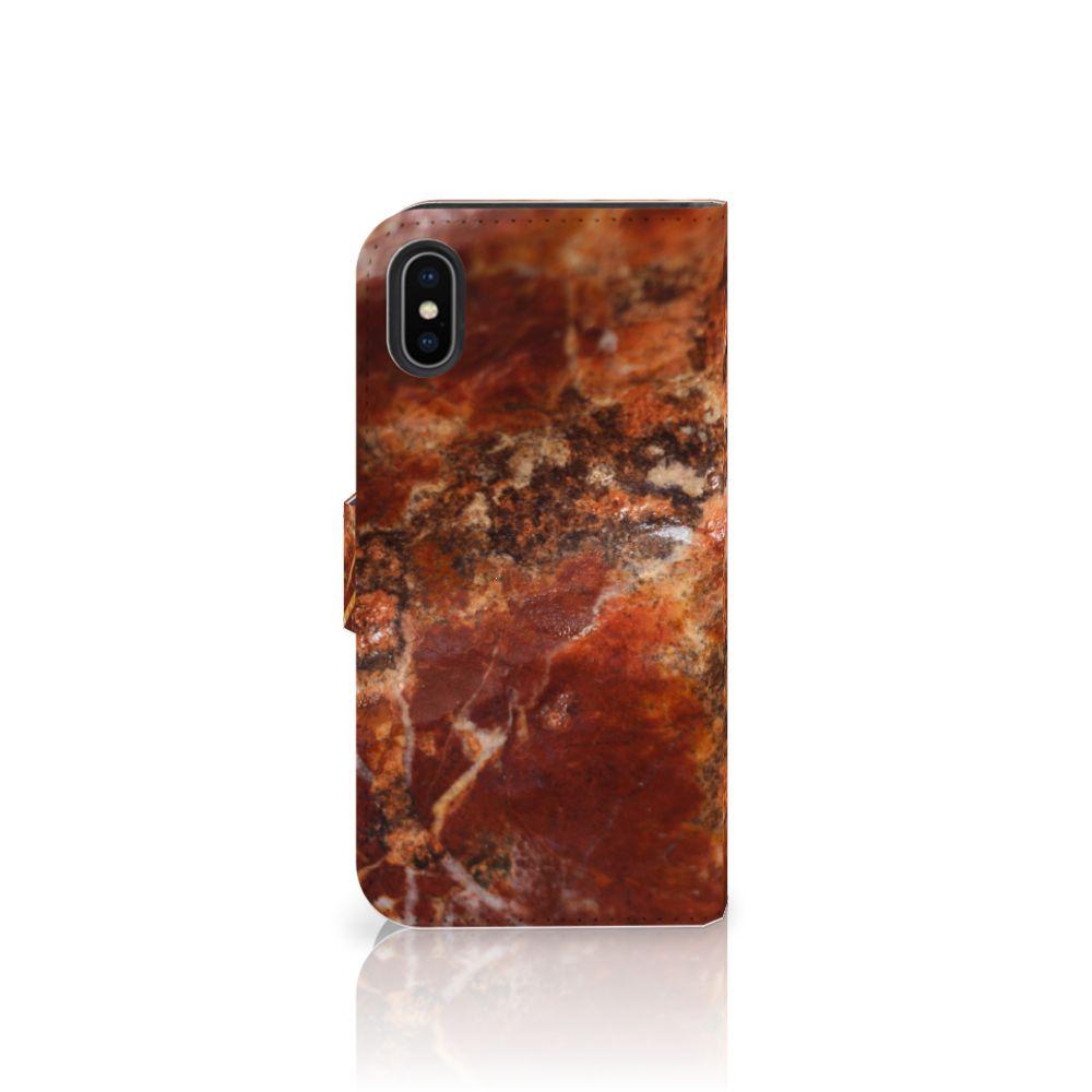Apple iPhone X | Xs Bookcase Marmer Bruin