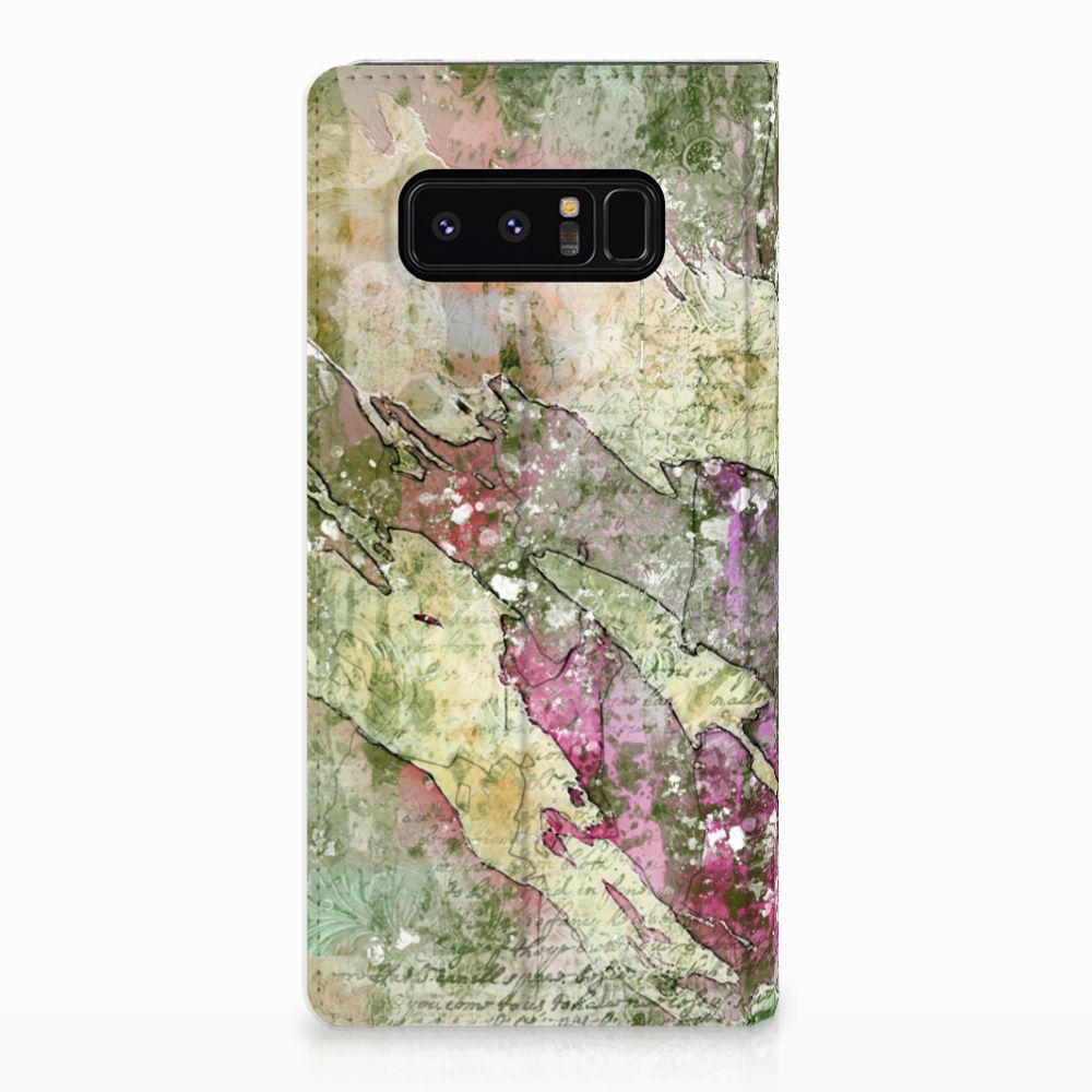 Samsung Galaxy Note 8 Uniek Standcase Hoesje Letter Painting