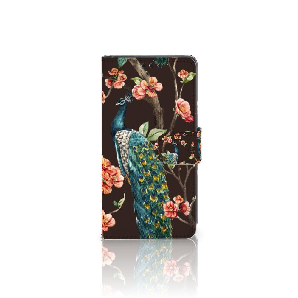 Sony Xperia Z5 | Z5 Dual Boekhoesje Design Pauw met Bloemen