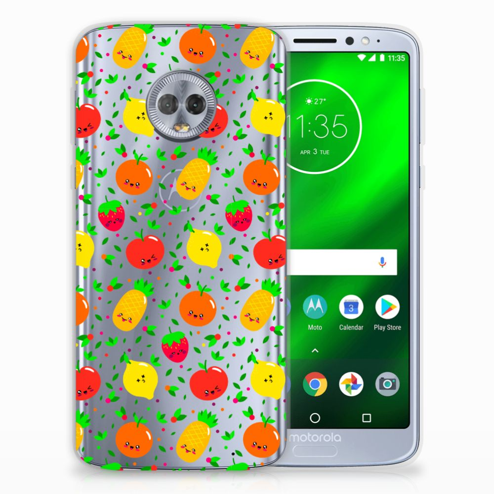 Motorola Moto G6 Plus Siliconen Case Fruits