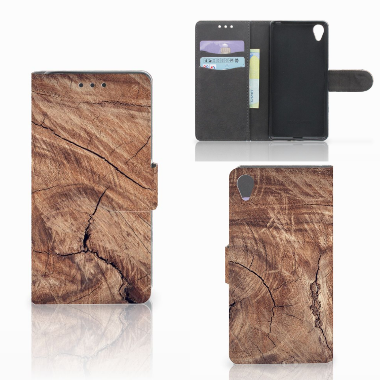 Sony Xperia X Book Style Case Tree Trunk