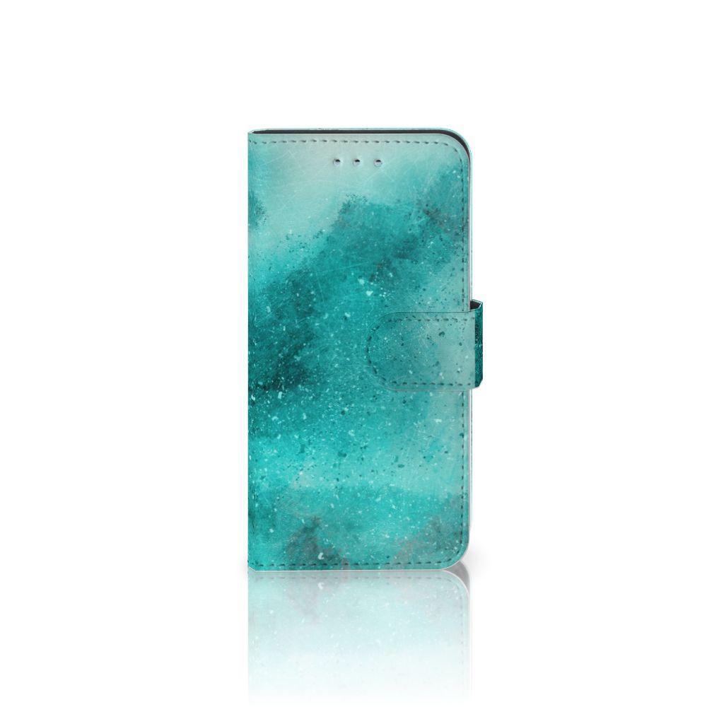 Samsung Galaxy S6 | S6 Duos Uniek Boekhoesje Painting Blue