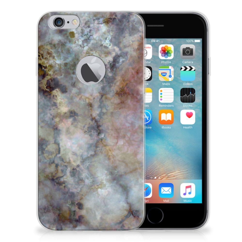 Apple iPhone 6 Plus | 6s Plus TPU Siliconen Hoesje Marmer Grijs