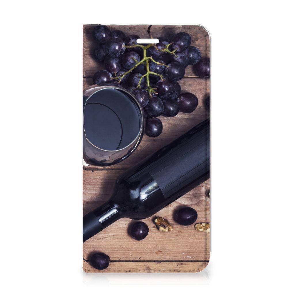 Huawei P8 Lite 2017 Flip Style Cover Wijn