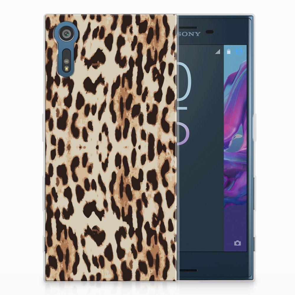 Sony Xperia XZs | XZ Uniek TPU Hoesje Leopard