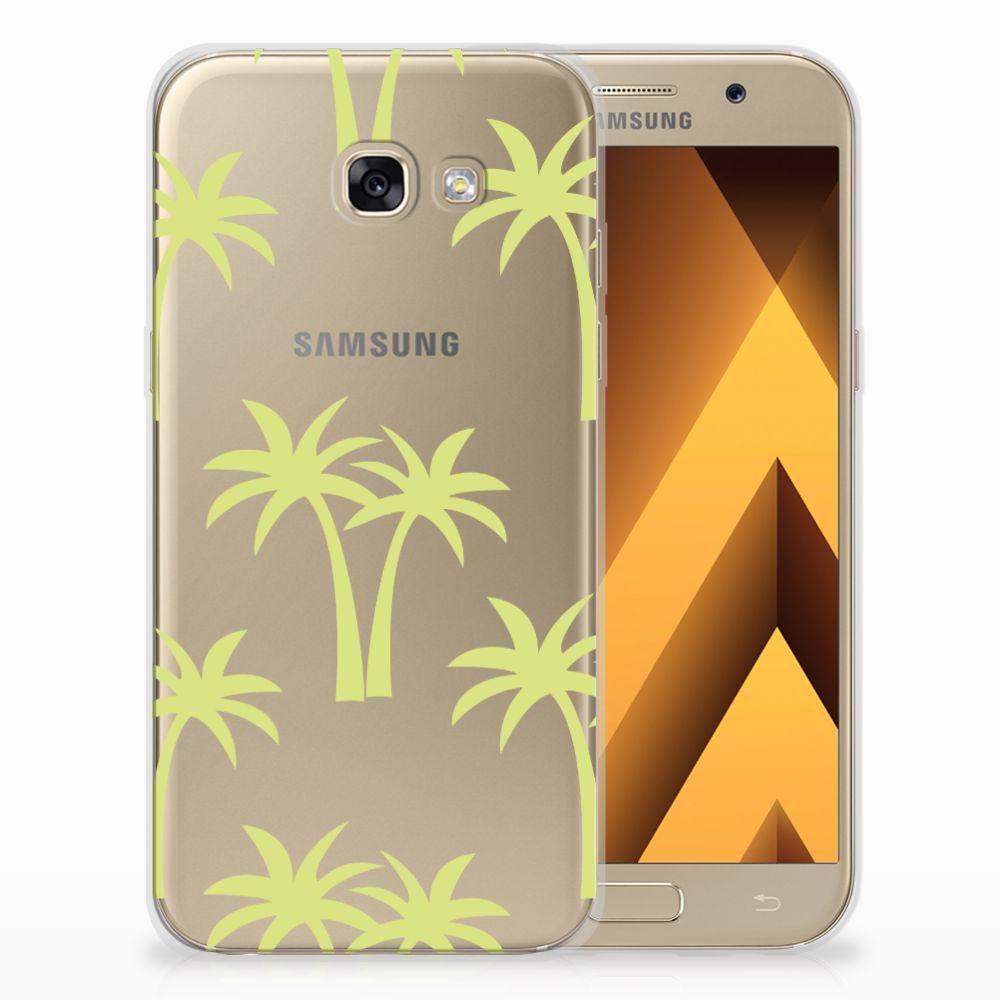 Samsung Galaxy A5 2017 Uniek TPU Hoesje Palmtrees